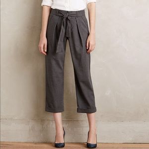 NWOT Anthropologie Sz 6 Belted Cropped Trousers